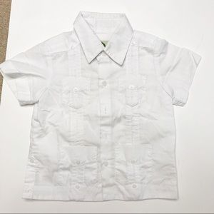 Boys Cuban Guayabera Toddler Shirt 2T